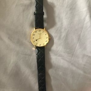 Kate Spade black leather Watch ( No battery)